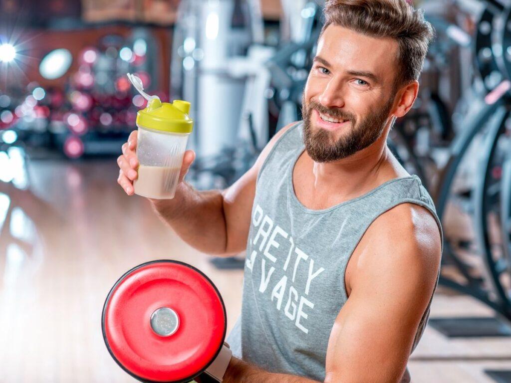 Batido de proteína casero antes de entrenar