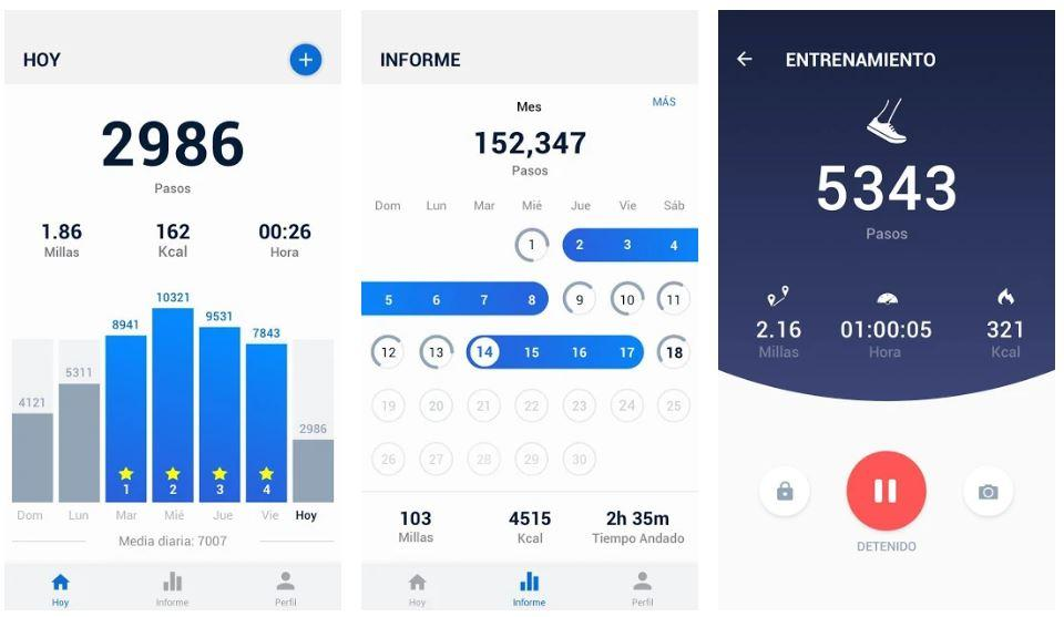apps para contar el número de pasos
